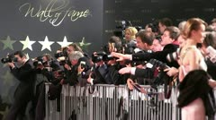 Red Carpet Photographers Stock Footage