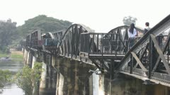 Walking on the Bridge Over the River Kwai p82 Stock Footage