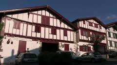 Village D'Ainhoa - Basque Village in Pyrenees Stock Footage