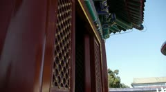 Temple in Beijing.China's royal ancient architecture. Stock Footage