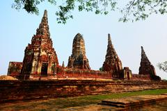 The Old temple of The old capital of thailand - stock photo