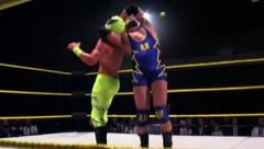 Sports: Pro Wrestling Match - Neckbreaker Stock Footage
