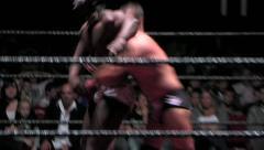 Sports: Pro Wrestling Match - Chain German Suplex X2 - stock footage