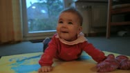 Stock Video Footage of baby on blanket laughing - HD