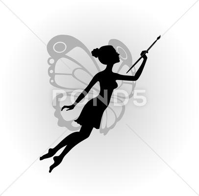 Stock Illustration of Muse of the artist