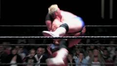 Sports: Pro Wrestling Match - Suplex to 300Ib Super Heavyweight! - stock footage