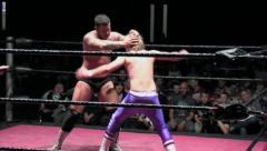 Sports: Pro Wrestling Match - Hope Spot - Sunset Flip & Counter Stock Footage