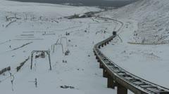 Cairngorm Mountain railway Scotland Stock Footage