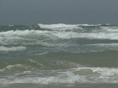 Breakers on ocean shore - medium shot 02 Stock Footage