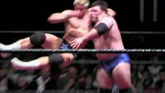 Sports: Pro Wrestling Match - Bulldog & Axe Handle Stock Footage
