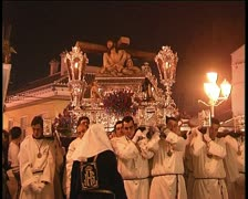 Procession in spanish holy week Stock Footage