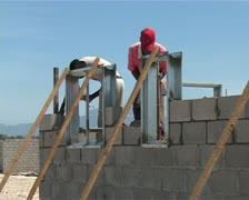 Bricklaying in Cape Town, South Africa Stock Footage