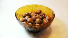 Choosing Hazelnuts Stock Footage