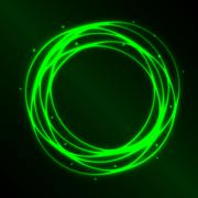 Abstract background with green plasma circle effect Stock Illustration