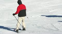 People skiing Stock Footage
