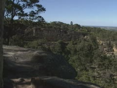 View from Mount Portal Lookout - pan to Cumberland Plain with Nepean River Stock Footage