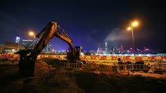 One of many construction sites in Hong Kong. Timelapse Stock Footage