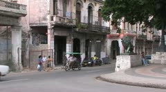 Stock Video Footage of Street with trees in Havana, Cuba