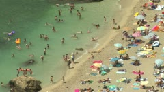 Cap Ferrat beach Stock Footage