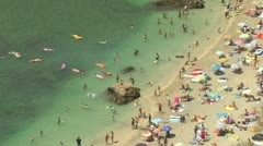 Cote D'Azur beach - stock footage