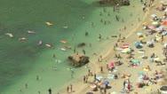 Cote D'Azur beach Stock Footage