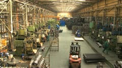 Factory hall:production of wheels 4 Stock Footage