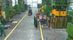 Factory hall:production of wheels 1 Stock Footage