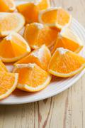 cut orange - stock photo