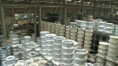 Factory hall:production of wheels 5 Stock Footage