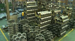 Factory hall:production of wheels 2 Stock Footage