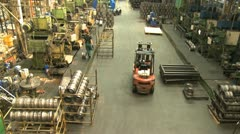 Factory hall:production of wheels 3 Stock Footage