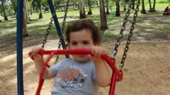 Kid swing Stock Footage