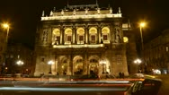 Stock Video Footage of Hungarian Operahouse 2013
