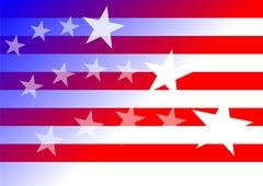 US flag - stock illustration