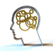 The Thinking Process - Gold - stock illustration