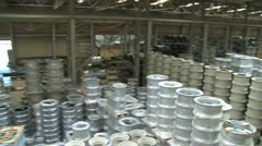 Factory hall:production of wheels 6 Stock Footage