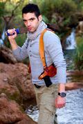 adventure man - stock photo