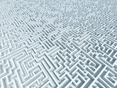 Endless Maze - stock illustration