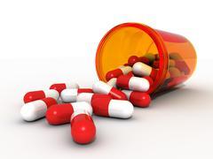 Red Pills - stock illustration