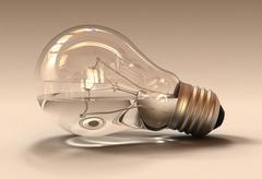 Water Light Bulb Stock Illustration