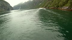 Rib Boat Geiranger Fjord Norway - North Europe Travel Destination Stock Footage