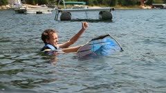 young man water sport - HD - stock footage