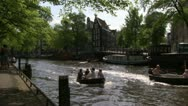 Amsterdam boat trip Stock Footage