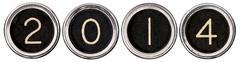 vintage new year 2014 keys - stock illustration