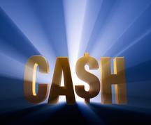 cash - stock illustration