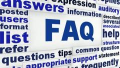 FAQ information message Stock Footage