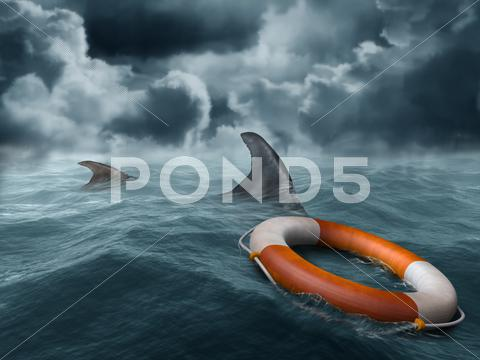 Stock Illustration of lost at sea