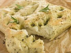 Foccacia Bread - stock photo