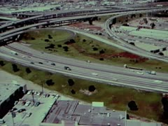 HIGHWAY SHOT FROM AIR 2 - COLOR - stock footage