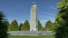 The Brooding Soldier or St. Julien Memorial, Belgium. - stock footage